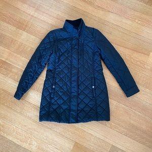 Ralph Lauren Quilted Dress Coat Size M in Black